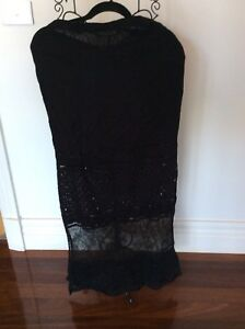 Billabong Mystic Long Black Skirt Size Size 10 Brand New With Tags