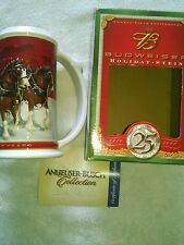 Budweiser Beer Holiday Stein 2004 Clydesdale Horses CS608 25th Anniversary