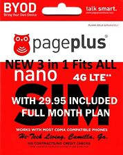 PAGE PLUS SIM CARD WITH $29.95 PRE-LOADED w / FIRST MONTH DISCOUNT
