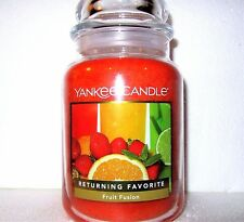 "Yankee Candle ""FRUIT FUSION"" Fruit Scented Large 22 oz. WHITE LABEL ~ NEW!"