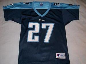 Eddie George 27 Tennessee Titans Blue Jersey NFL Champion Boys Medium 10-12 used