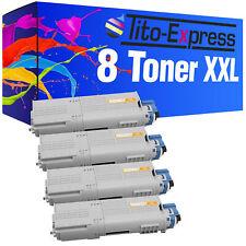 Laser Toner Kartuschen Toner Patronen XXL PlatinumSerie 8er Set für OKI C532 C 5