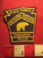 Vtg Hunting Patch BLACK FOREST CONSERVATION ASSOC. Coudersport Potter BEAR C856
