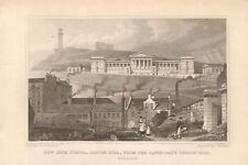 1829 antica stampa-Edimburgo-nuovo liceo, Calton Hill, di Canon Gate Chu