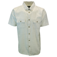 Rip Curl Men's Cream Lined S/S Woven Shirt (S01)