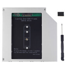 2nd Driver Caddy M.2 NGFF SSD to SATA for 12.7mm DVD-ROM Optical Bay Laptop 0.99