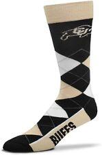 Colorado Buffaloes Ncaa For Bare Feet Argyle Thin Crew Dress Socks *One Size