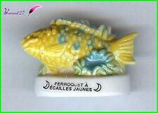 "Feve de collection Poisson Fish Edition Atlas "" Perroquet Ecaille Jaunes "" #E31"