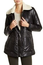 3a86264f48c0f New with Tag -  245 Kenneth Cole Faux Shearling Lined Black Puffer Plus Size  1X