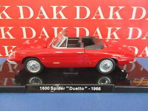 Die cast 1/24 Modellino Auto Alfa Romeo 1600 Spider Duetto 1966 rosso