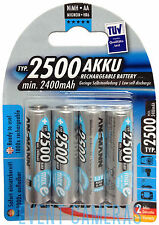 Ansmann Max E AA 2500mAh Rechargeable NiMH Batteries (4-Pack) MPN: 5035442