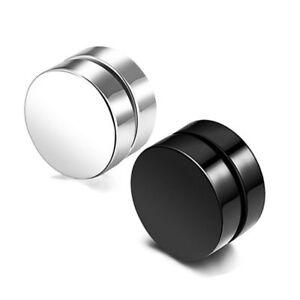 Unisex Non-Piercing Magnetic Magnet Ear Stud Fake Earrings Men Women UK