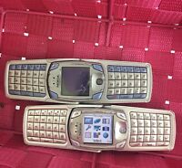 JOBLOT 2X NOKIA 6820a 6822a Silver 6800 SERIES QWERTY Mobile Phone Unlocked Read