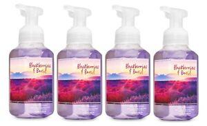 Bath & Body Works Blackberries & Basil Gentle Foaming Hand Soap x4