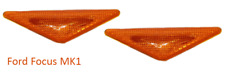 2 X FORD FOCUS MK1 98-05 ORANGE AMBER SIDE INDICATOR LENS REPEATERS BRAND NEW