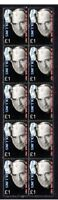 PHIL COLLINS STRIP OF 10 MINT UK POP MUSIC VIGNETTE STAMPS 4