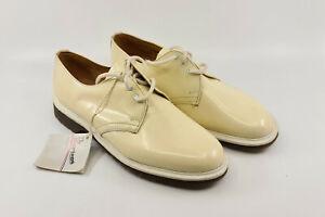 Vintage DR DOC MARTENS 80's Womens Size 6 Cream Leather, 28cm uni-sex as new