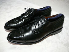 "ALLEN EDMONDS ""SANFORD"" MEN'S OXFORD BLACK LEATHER SHOES SIZE 10½ C MADE IN USA"