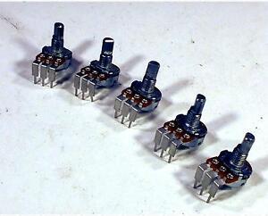 Alpha 50K Ohm Vertical Mount Pot Potentiometer A50K A50K Lot Of 5