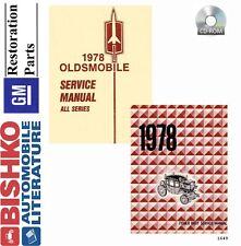 1978 Oldsmobile Shop Service Repair Manual Cd Engine Drivetrain Electrical Oem