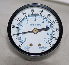 """-30"""" HG VAC/100 PSI  2"""" Dial 1/8"""" NPT PRESSURE GAUGE"""