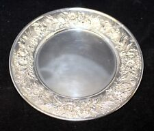 S Kirk & Son Sterling Silver Bread Plate - Repousse-Partial Chased