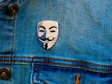 V for Vendetta Anonymous Guy Fawkes Mask Pin