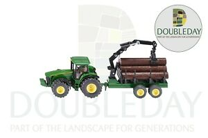 John Deere Siku 8430 Tractor and Forestry Trailer 1:50 Scale - 1954
