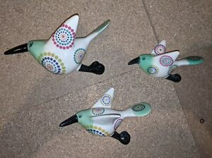 Hannah Turner Trio Of Birds Wall Mounted