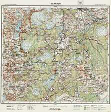 1925 Vintage army topographic map JĒKABPILS (Latvia), scale 1:75 000