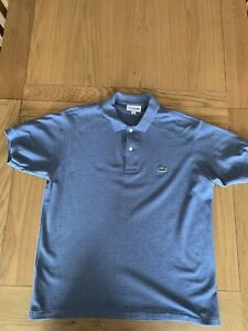 Genuine Lacoste, Men's Light Blue Polo, Size 4