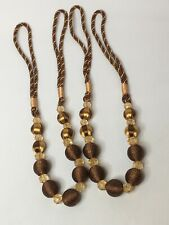 Elegant Charm Beaded Curtain Tie Back 35� Dark Coffee Color