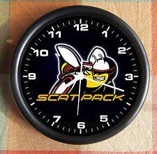 DODGE SCAT PACK Black Logo 10 Inch Wall clock  New Licensed