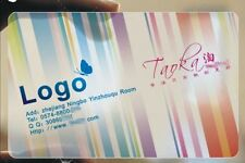 200 Custom PVC Plastic Business Cards Printing -Frosted Transparent /Translucent