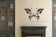Butterfly vinyl wall decal - removable, words, stickers
