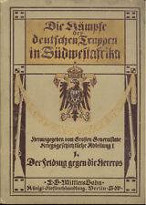 Le guerre delle truppe tedesche nell'Africa sudovest Campagna contro gli Hereros