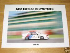 BMW M3 E30 POSTER 3 - 1436 ERFOLGE 1628 TAGE EVO DIN A1 / ORIGINAL VINTAGE RARE