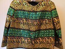 Antique Vintage Italian Couture Metallic Silk Brocade Jacket Bolero GORGEOUS.