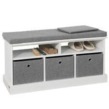 SoBuy® Hallway 3 Baskets Shoe Storage Bench Seat Stool With Cushion FSR67-HG,UK