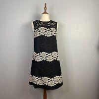 Cue Womens Size 12 A - Line Sleeveless Lace Midi Dress