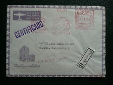 Luftpostbrief SPANIEN mit R Zettel