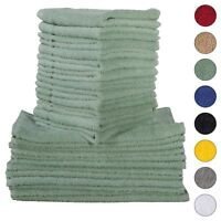 NEW TEAL GREEN Color ULTRA SUPER SOFT LUXURY PURE TURKISH 100% COTTON WASHCLOTHS