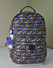 Kipling BP3447 Black Whimsical Window Seoul Backpack with Laptop Protection