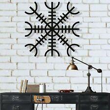 Metal Wall Art, Helm of Awe Metal Viking Decor, Nordic Mythology Symbol