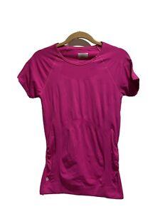 ATHLETA Finish Fast Tee TShirt Raspberry Pink Short Sleeve Athletic Large591301