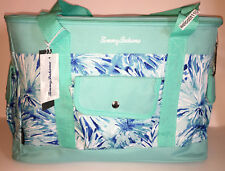 Tommy Bahama AQUA WITH BLUE & WHITE INSULATED COOLER BAG.  BRAND NEW.