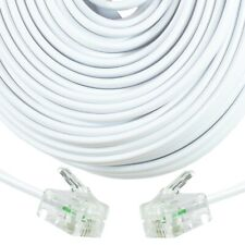 More details for 30m extra long rj11 uk modem router cable adsl phone lead fast bt internet white
