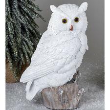Eule 32 cm weiß Winterzeit Deko Figur Vögel Tier Weihnachtsdeko 721105 formano