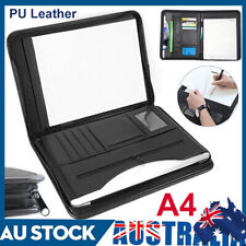 Yosoo A4 ZIPPED Conference Folder Business Faux Leather Document Case Bag Portfolio