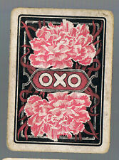 "Playing Swap Cards1 VINT WIDE ADVT FOR ""OXO "" PINK  CARNATION  FLOWER AD22"